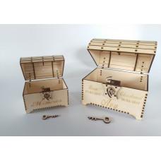 Wooden Treasurer Chest