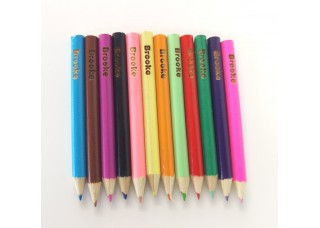 Engraved Half Colouring Pencils