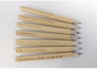 Engraved Half Pencils