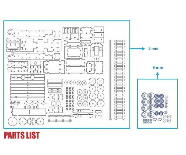 Locomotive Parts Catalog : Wooden steam train kit