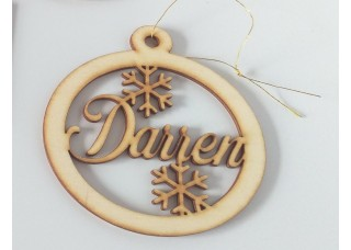 Christmas Tree Name Decoration