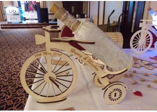 Bicycle Wine Bottle Table Piece